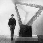 Herb Elsky with a resin sculpture