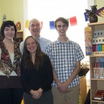 Amy Kida (center) with other Ziji staff, Alicia Brown, Mark Glass and Graham Navin (left to right)