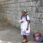 Mayan Woman selling handerchieves, Chichen Itza, Mexico