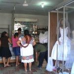 Old and new wedding dresses, Valladolid, Mexico