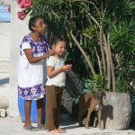 Mayan woman & child, Puerto Morales, Mexico