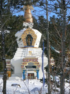 No...this is not Mexico. The Great Stupa of Dharmakaya, Winter 2008-09.