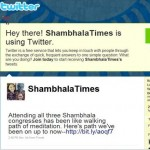 Tweeting Shambhala