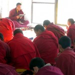 XII Rinpoche teaching novice monks at the Surmang shedra, October 2010