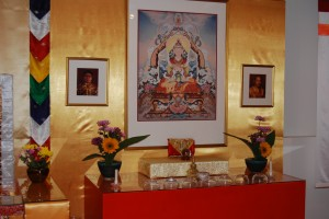 The shrine at the Washington, D.C. Shambhala Center