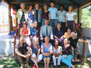 Johann Verster, Hester van der Walt, Lies Hoogendoorn, Trudy Wagenstroom, Mary Anne Botha (coordinator), Gillian Barton. Photo by Diana Simons.