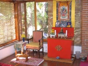 Teacher's chair and shrine