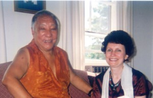 Khenpo Tsultrim Gyamtso Rinpoche and Rochelle Weithorn at Karme Choling,  Photo by Ari Goldfield