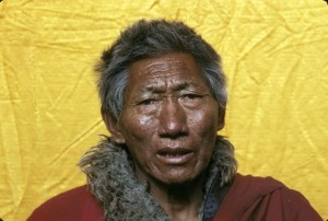 """Tashi, Regent Abbot of Surmang Dutsi Til, the first person Lee met at Surmang. """"He was my grandfather, my teacher, and also my vajra brother. He died in 1990."""""""