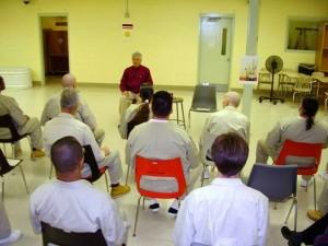 Richard Sylvester leading meditation practice