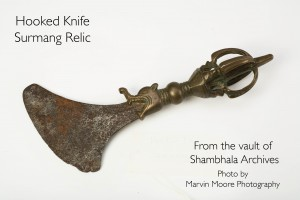 Hooked knife belonging to Naropa