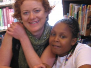 The author with one of her students