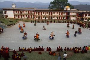 Lama Dances at Padmasambhava Vihar in Orissa, India prior to Losar, the Tibetan new year
