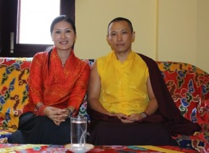 Sakyong Mipham Rinpoche and the Sakyong Wangmo after the conclusion of the Rinchen Terdzo