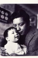 Chogyam Trungpa Rinpoche holding Gesar Mukpo. Photo by James Gritz. Courtesy of the Shambhala Archives.