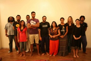 Participants at a program in Sharjah, United Arab Emirates, April 3rd, 2009. Photo by Bill Karelis 2009.