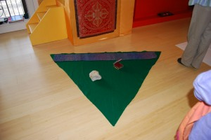 Karma - We moved on to work with the shapes and colors associated with the Buddha Families.