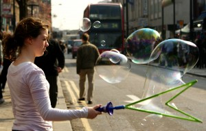 Bubbles, London-style. Photo by Laura Babb.