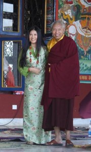 Khandro Teyang and Namkha Drimed Rinpoche at the Rinchen Terdzo in Orissa, India