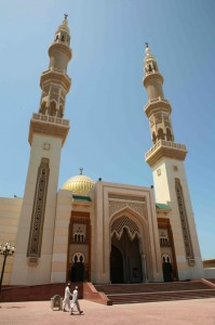 The mosque at Sharjah