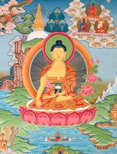 "Shakyamuni Buddha with ""earth-touching mudra,"" courtesy of Exoticindiaart.com"