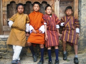 Bhutanese boys from the