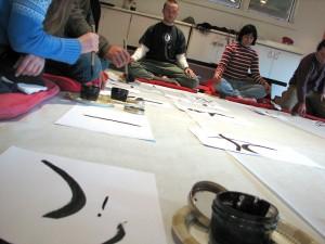 Doing Shambhala Art. Photo by Laurissa Kowalchuk.