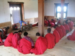 Monks studying in Sewala Monastery