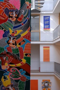 Interior of the Kalapa Centre Europe, in Koln, Germany.