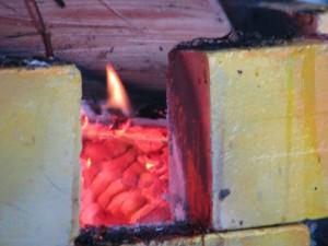 Enriching flame