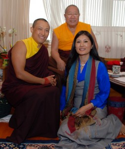 His Holiness Penor Rinpoche with the Sakyong and Khandro Tseyang, courtesy of Shambhala.org.