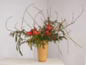 arrangement ikebana par Stéphane Bédard