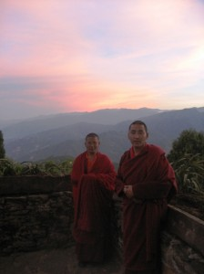 Two of the monastery's teachers