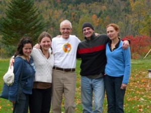 the students are (left to right) Sylvia Eneriz, Jade Meunier, John Stott, Brian Schorn and Miki Giffune