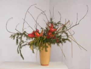 Ikebana arrangement by Stéphane Bédard