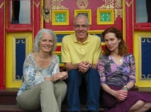 Students are (left to right) Sandy Bussell, John Stott and Miki Giffune
