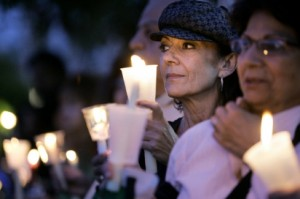 Vigil for Iran, photo courtesy of OCRegister