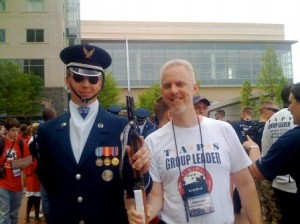 Jon and member of the AF Drill Team