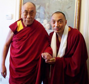 His Holiness the Dalai Lama and Khenpo Gawang