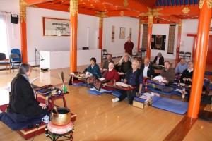 Acharya Eve Rosenthal leads a training