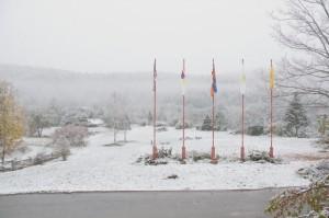 First snow at Karme Choling
