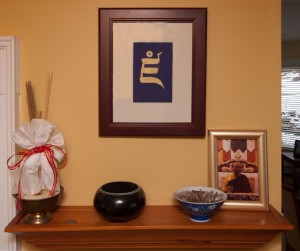 The kitchen shrine at the Kalapa Court in Halifax