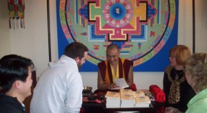 Khenpo Signing His New Book