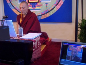 Khenpo Gawang teaching on Shambhala Online