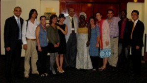 The UPeace delegation, with Vice-Rector and conference panelist Dr. Amr Abdalla in the centre and the author fifth from the right