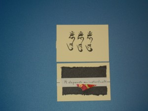 Calligraphy by Alexandra Shenpen, available in the Art Auction currently on the Konchok Foundation website