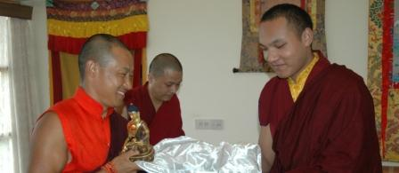 From their meeting in 2004, at Gyuto Monastery, near Dharamsala.