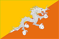 National Flag of the Kingdom of Bhutan