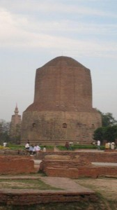 The Stupa at Sarnath, marking the spot where Buddha taught the Four Noble Truths