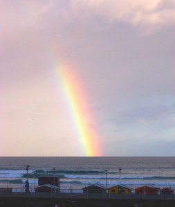 Rainbow over False Bay, South Africa